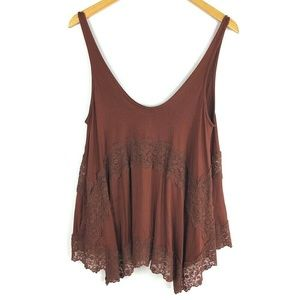 American Eagle Soft & Sexy Burgundy Red Knit Tank